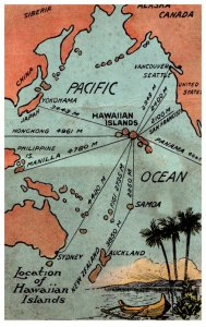 Map of Location of Hawaiian Islands
