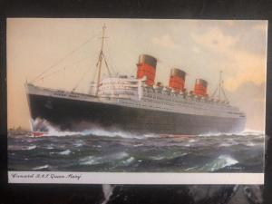 Mint England  PPC Postcard Cunard RMS Queen Mary Passengers Ship