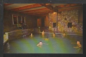 Swimming Pool,Watuck Lodge,Cooke City,MT Postcard