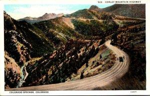 Colorado Colorado Springs Corley Mountain Road Curteich