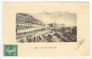 ALGER - Les ramps du Boulevard, 1908