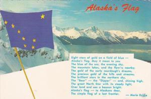 Alaska State Flag & Poem by Marie Drake 1973