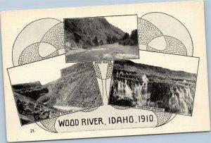 postcard Oregon Trail: Wood River, Idaho, 1910