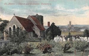 Canterbury St. Martin's Church and Cathedral Dom Cattedrale 1904