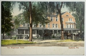 Old Undivided Back Postcard The Ridgewood Hotel, Daytona, Florida Unused