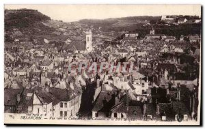 Besancon Old Postcard View to the cathedral Citadel and Fort Bregille