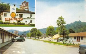 Wheeling West Virginia~Motel Fort Henry & Restaurant~1957 Cars~Station Wagon PC