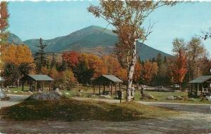 Baxter State Park Maine~Katahdin Stream Campground~Shelter House~1950s Postcard