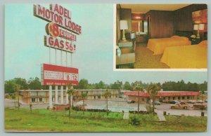 Adel Georgia~Adel Motor Lodge & Gas Station~Pickup Truck~Vintage TV in Room~'60s