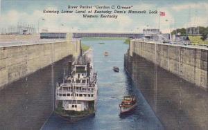Riverpacket Gordon C Greene Entering Lower Level Of Kentucky Dam's Mammoth Lo...