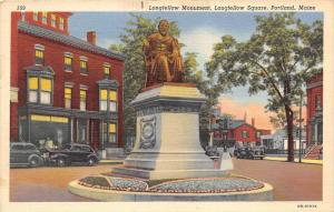25285 ME, Portland, Longfellow Monument, Longfellow Square
