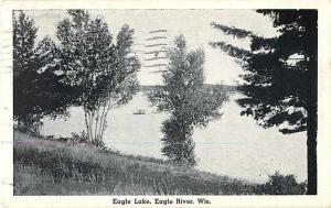 W/B Eagle Lake Eagle River Wisconsin WI 1937