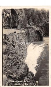 C26/ Powell Wisconsin Wi Postcard Real Photo RPPC 1920 Shoshoni Dam Spillway