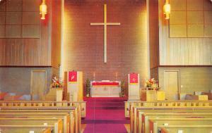 Medicine Lodge KS First Methodist Church Interior~Communion Table~Piano 1950s