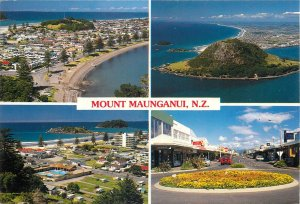 New Zealand Postcard Mount Maunganui holiday resort different aspects