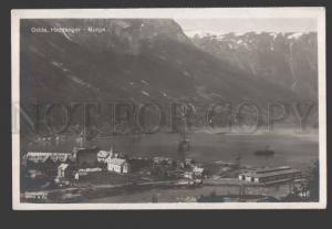 114749 Norge NORWAY Odda HARDANGER Vintage postcard
