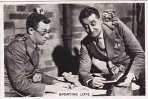 Jackson Vintage Cigarette Card Shots From The Films 1937 No 1 Sporting Love