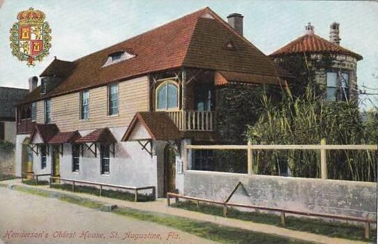 Florida Saint Augustinew Hendersons Oldest House