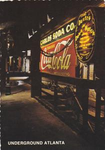 Georgia Atlanta Underground Atlanta Coca Cola Sign
