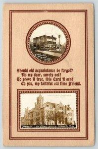 Warren MN Mini RPPC Vws~First National Bank~Courthouse~Faithful Friend Poem~1910