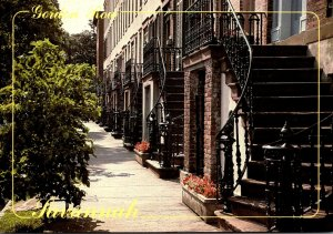 Georgia Savannah Gordon Row 19th Century Dwellings