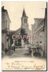 Parcay Old Postcard L & # 39eglise