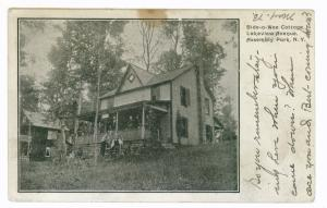 Assembly Park to Liverpool, New York 1906 PC, Bide O Wee Cottage, purple marking