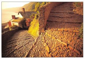 Postcard Clovelly Cobbles, Devon Large Format 165x115mm P97