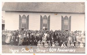 Colman South Dakota~Hegre Lutheran Church~60th Anniversary Group Pic~1930s RPPC