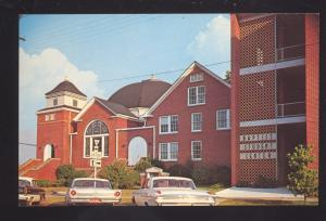 MONTEVALLO ALABAMA BAPTIST CHURCH 1960's CARS VINTAGE POSTCARD