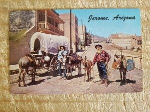OLD PROSPECTORS AT THE GHOST CITY JEROME,AZ.VTG UNUSED POSTCARD*P16
