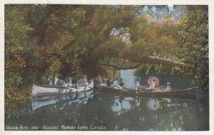 MUSKOKA , Ontario , Canada , 1930s ; Shadow River Near Rosseau