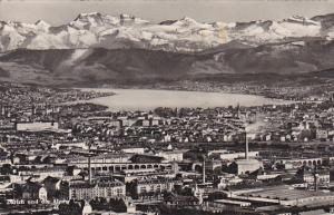 Switzerland Zurich und die Alpen 1950 Photo