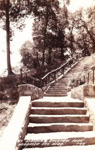 RPPC Stairway Riverview Park, Nebraska City, NE Real Photo Postcard Unposted D16