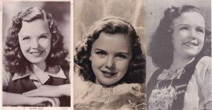 Gloria Jean Child Film Star 3x Real Photo & Old Rare Postcard s