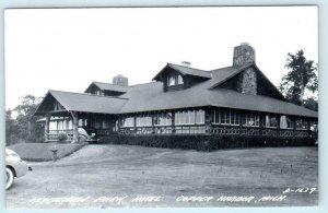 RPPC  COPPER HARBOR, Michigan MI ~ KEWEENAW PARK HOTEL c1940s  Postcard