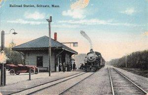 Scituate Massachusetts Railroad Station Train Vintage Postcard KK24