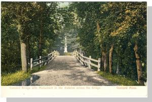 Concord, Mass/MA Postcard, Concord Bridge/Monument