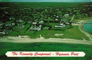 Postcard Kennedy Compound Hyannis Port Mass