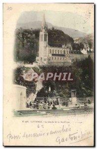 Old Postcard Lourdes Grotto Basilica
