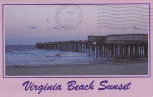 Sundown Over the 14th Street Pier, VIRGINIA BEACH, Virginia, PU-1988