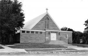 Hector Minnesota St Johns Catholic Church Real Photo Antique Postcard K27072