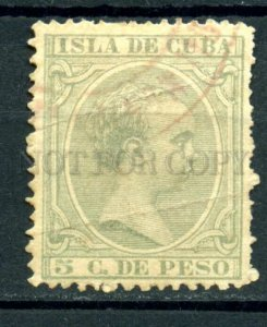 509370 CUBA 1890 year king Alfons XIII definitive stamp