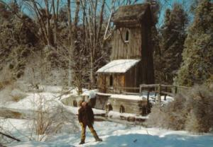 Canada Old Water Mill In Winter Blair Ontario
