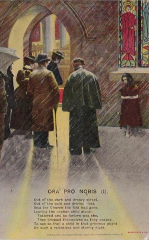 Bamforth Men Entering Church Ora Pro Nobis No 1