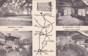 ROCKTON, Illinois, 1940-1960's; 4-Views, The Wagon Wheel Lodge
