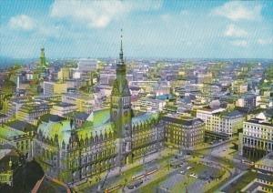 Germany Hamburg Rathaus und Innenstadt