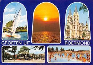 Netherlands Groeten uit Roermond multiviews Church Kirche Boat Sunset Beach