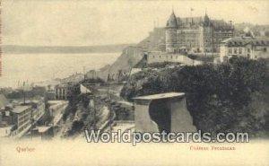 Chateau Frontenac Quebec Canada Unused