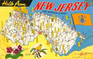 New Jersey, The Garden State USA Postcard Unused